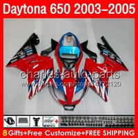 triumph - Blue red gifts Body For Triumph Daytona Daytona650 NO12 Daytona Fairing Blue black Kit