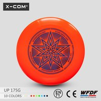 Wholesale X COM Environment friendly PE Plastic Frisbee Outdoor Sport Toy Flying Disc Frisbee g Custom Ultimate Frisbee Discs
