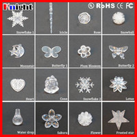 Wholesale String light crystal pendant icicle leaf star drop sunflower dandelion snowflake corn butterfly ball lotus moonstar without light accessory