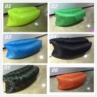 Wholesale Outdoor Inflatable Couch Camping Furniture Sleeping Compression Air Bag Lounger Hangout Nylon Fabric colors