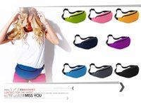 Wholesale 50PCS Unisex Portable Multifunction Sport Runner Fanny Pack Belly Waist Bum Bag Fitness Running Jogging Belt Solid Pouch Waist Bag Color