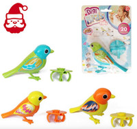 Wholesale Digibirds Intelligent Music Electric Singing Bird Electronic Sound Control Digi Birds Pets Christmas Gift Toys Free DHL
