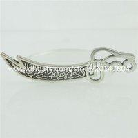 antique dagger - 15505 Alloy Antique Silver Vintage Large Totem Dagger Pendant Charm