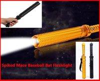 Wholesale Hot Selling LM CREE Q5 LED Spiked Mace Baseball Bat Long Flashlight Self defense Torch Lamp Mode