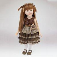 baby hair gel - 45cm Long hair Soft silica gel Simulation doll Reborn Doll Baby toys