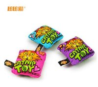 Wholesale New Arrival Cat toys Edible Natural Catnip Cartoon Small Square Pillows Cat Toy