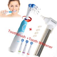 Wholesale 1 Set AZDENT Electric Toothbrush with Brush Heads Tooth Whitener Teeth Burnisher Polisher Dental Oral Hygiene Tooth brush