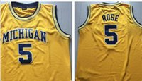 Wholesale No Michigan State Jalen Rose Yellow Jersey Men s Rev30 stitched basketball jersey authentic throwback jerseys Mesh
