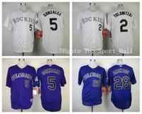 baseball team jerseys - Colorado Rockies Baseball Jerseys Sports Nolan Arenado Carlos Gonzalez Jersey Game Troy Tulowitzki Team Color Purple White