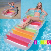 Cheap Hot Sale Folding Water Bed Adult Tourist Beach Float Line Of Inflatable Chair Armrest Chair Free Shipping