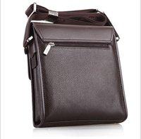 Wholesale Men s shoulder bag Messenger bag men s fashion men s leather briefcase bag