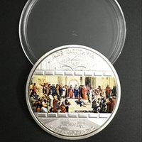 ars arts - 2 Cook Island masterpieces of art Vantican Ars silver plated colored Elizabeth coin OD about mm coin