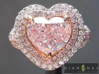 Wholesale 1 ct Fancy Pink VS2 Heart Shape Diamond Halo Ring GIA R7085 Diamonds by Lauren