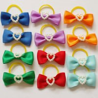 Wholesale 600pcs Dog Cat Puppy Hair Bow New Headdress Butterfly Bow Pets Gift Mixed Colors