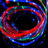 app usb cable - In business LED Luminous USB Cable Streamer data sync USB cables For App cellphones only Charging INBCACC001