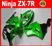 abs tops - NEW TOP ABS motor Fairing set bodywork For Kawasaki Ninja ZX7R ZX R ZX R loves green