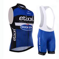 al por mayor kit de ciclismo paso rápido-2016 Etixx Jerseys de ciclo sin mangas del paso rápido + Kits de los cortocircuitos de los deportes Montaña MTB Maillot Ropa Ropa de la bici / ropa de ciclo