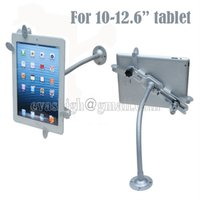 armed windows - Flexible Ipad security display stand tablet lockable holder metal clamp with gripper arm tube mount on wall or desktop for quot tablet