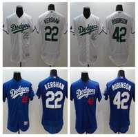 robinson - 2016 New Los Angeles Dodgers Jersey Clayton Kershaw Kirk Gibson Sandy Koufax Jackie Robinson Yasiel Puig White Gray Blue