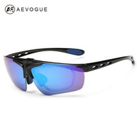 Hombres AEVOGUE polarizado al aire libre de las lentes de la prescripción del marco del Proyecto barato gafas de sol del deporte de la miopía 2016 AE0340