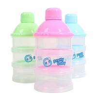 El bebé infantil de leche en polvo dispensador de organizador del almacenaje de la caja del caso del envase portátil de viaje 100% nuevo y de buena calidad