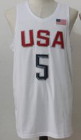 Wholesale New Jersey Team USA Basketball Jerseys Jersey New White Color Size S XXL Stitched Hot Jerseys High Quality Mix Match Order