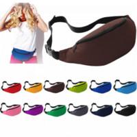 belly pillow - Unisex Portable Multifunction Sport Runner Fanny Pack Belly Waist Bum Bag Fitness Running Jogging Belt Solid Pouch Waist Bag B0468