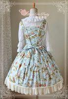 al por mayor traje de hada amarilla-Al por mayor-JSK Lolita del traje Lolita linda Ciudad de hadas precioso impresión Lolita Azul Amarillo