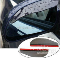 Wholesale 500pairs New Smart Car Rear View Side Mirror Flexible Plastic Rain Water Visor Shade Guard Black Clear