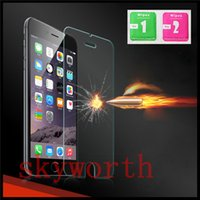 Wholesale 9H Tempered Glass Screen Film For iphone S SE S Plus Plus Samsung Galaxy S5 S6 S7 edge Explosion proof Premium