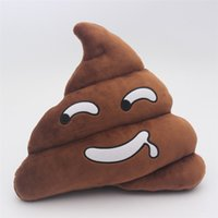 Wholesale 7 style lovely Decorative Cushion Emoji Pillow Gift Cute Shits Poop Stuffed Toy Doll Christmas Present Funny Plush Bolster Pillows