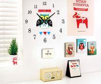 antique yellow owl - DIY clock cute cartoon owl child bedroom den decorated gift ideas birthday gift DIY wall stickers creative home decoration clock