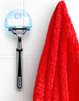 bathroom towel hooks - New Arrive Super Suction Cup Razor Rack Razor Holder Suction Cup Shaver Storage Rack Wall Hook Hangers Towel Sucker bathroom accessories
