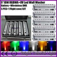 Wholesale lights fly case China led effect stage light w wedding backdrop wireless dmx led wash uplighting