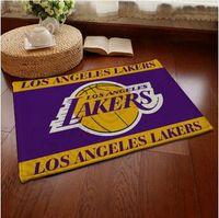 Wholesale 100pcs CCA3819 High Quality Desighs Flannel Anti skid Carpet cm Basketball Team Doormat Flannel Bedroom Carpets Cartoon Door Rugs