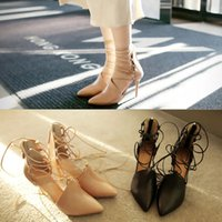 Cheap 2016 designer shoes in the spring and autumn single women feeling nightclub leather shoes Nude pointed high-heeled shoes with pointy shoes