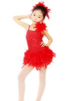Wholesale ballet tutu dress ballet dress New feather ballet skirt red short fashion modern dance skirt host training stage