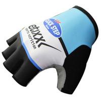 al por mayor half finger bicycle gloves-2016 Etixx Quick Step Gel Pad guante de ciclo del dedo de la bicicleta de montaña de los hombres Anti-resbalón respirable a prueba de golpes de ciclismo Guantes Accesorios