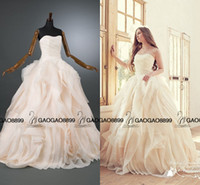Wholesale Real Photo Berta Ruffles Tiered Skirt Ball Gown Wedding Dresses Plus Size Corset Top Strapless Country Garden Wedding Bridal Dress