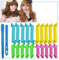 Wholesale 18pcs Set DIY MAGIC LEVERAG Magic Hair Curler Roller Magic Circle Hair Styling Rollers Curlers Leverag perm