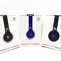 beat headphone wireless - Grade AAA NY KC P Wireless Beats solo2 Headphones Noise Cancel Bluetooth Used Headset with retail box