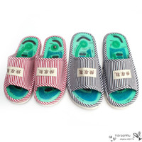 b magnet - High Quality Foot Acupoint Massage Shoes Foot Health Care Magnet Therapy Slippers Striped Pattern Indoor Shoes For Women Men