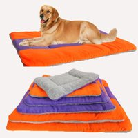 Wholesale New Large Cozy Warm Soft Fleece Puppy Pet Dog Kennel Cat Puppy Bed Mat Pad Kennel Cushion Pillow Size hot