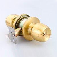 bedroom door security - 2set Security Round Ball Lock Stainless Steel Safe Knob Door Lock Privacy Keyless Lockset for wash room bedroom silver gold