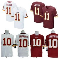 authentic redskins jerseys - HOT SALE Men s Redskins Elite Football Jerseys GRIFFIN III JACKSON High Quality Stitched authentic Two Colors Allowed