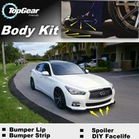 Wholesale Bumper Lip Lips For Infiniti Q50 V37 Front Skirt Deflector Spoiler For Car Tuning The Stig Recommend Body Kit Strip