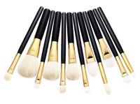 Wholesale 5pcs Pro Makeup Brush Blusher Eye Shadow Foundation Concealer Brushes Goat Hair Eyebrow Eye Brow Powder Lipsticks Make Up Tool
