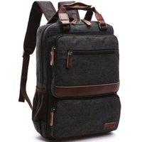 Wholesale 2016 Fashion Unisex Vintage Canvas School Bag Laptop Backpack Shoulder Bags