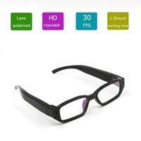 Wholesale Mini HD P Spy Camera Glasses Hidden Eyewear DVR Video Recorder Cam Camcorder Built in GB memory