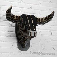Wholesale American cowboy D bull head bison head New European Bulls head Buffalo head creative wall animals home decor